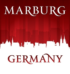 Marburg Germany city skyline silhouette vector image vector image
