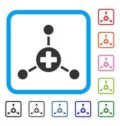 Medical center framed icon vector