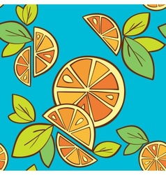 orange citrus bright Seamless pattern background vector image vector image