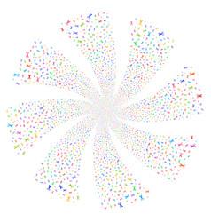 Scissors fireworks swirl flower vector