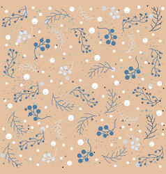 seamless winter pattern with beautiful berry vector image vector image