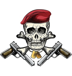 Skull in the beret vector