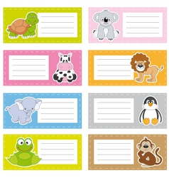 stickers animals vector image
