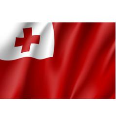 Waving flag of tonga islands vector