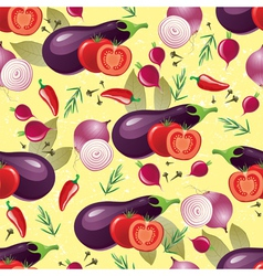 Violet vegetables seamless vector