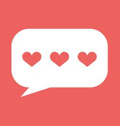 hearts in speech bubble icon vector image