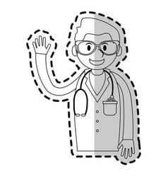 medical doctor cartoon icon image vector image
