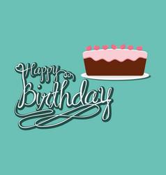 Happy birthday cake party celebration vector