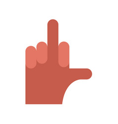 Fuck hand aggression symbol middle finger up vector