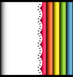 Rolls of colored wrapping paper background vector