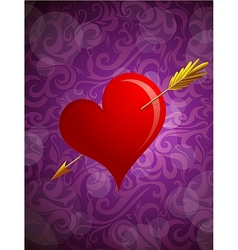 St Valentines greeting card vector image