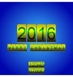 2016 new year yellow blue card odometer vector