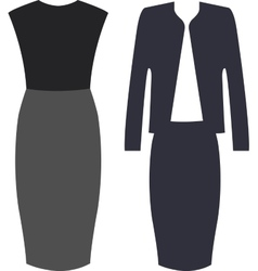 The outfits for the professional business women vector