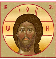 Vintage icon of jesus vector