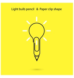 Creative light bulb pencil logo design vector image