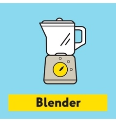 The flat icon of blender mixer silhouette on the vector