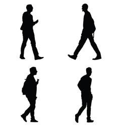 Man set silhouette vector