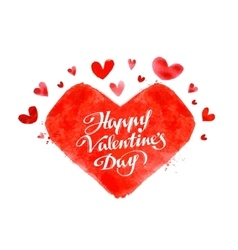 Happy valentine day hand lettering - handmade vector