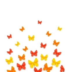 Spring or summer background with paper butterfly vector