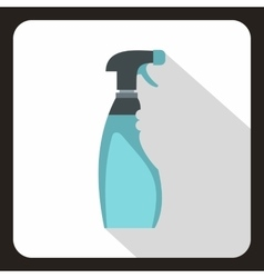 Blue sprayer icon flat style vector