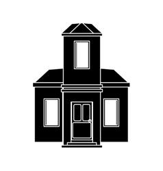 cartoon family house exterior concept vector image