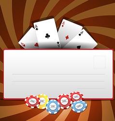 Casino invitation vector image