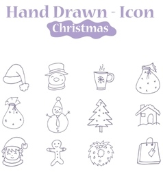 Christmas theme icons vector