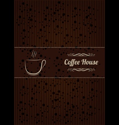 Coffe house menu cover vector image vector image