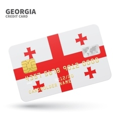 Credit card with Georgia flag background for bank vector image vector image