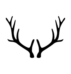 Deer antlers horns icon isolated on white vector