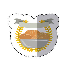 Emblem breads symbol icon vector