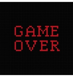 Game over pixel text message vector image vector image