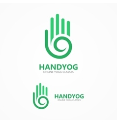 hand with a spiral logo vector image vector image