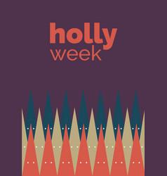 Holly week vector