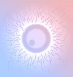 Insemination in a microscope viewpoint vector