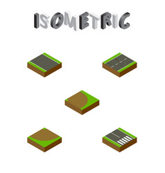 Isometric road set of turn without strip vector