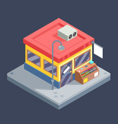 isometric shop business sell goods offer sale vector image vector image