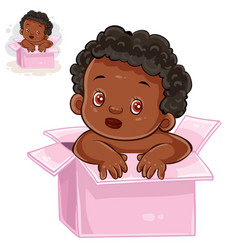 Little baby with black skin vector