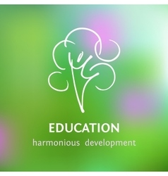 Logo of personal development and harmony vector