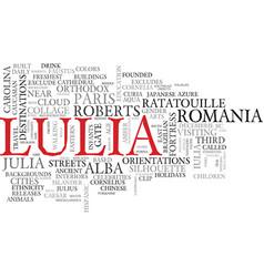 Lulia word cloud concept vector