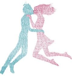 Man and Woman kiss vector image vector image