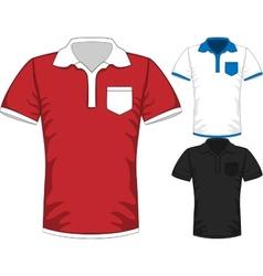 Mens short sleeve t-shirt polo design vector