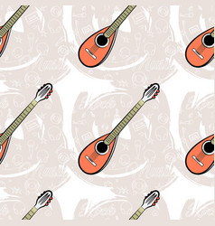 pattern seamless guitar-04 vector image vector image