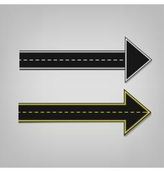 Road arrows 01 A vector image