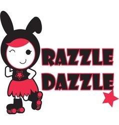 Roller derby - razzle dazzle vector