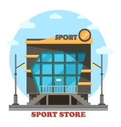 Sport shop or store for equipment or accessories vector image