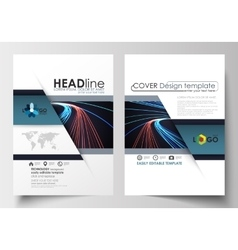 Templates for brochure magazine flyer booklet vector image vector image