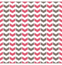 Tile pattern with pink and grey arrows on white vector