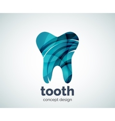 Tooth logo template vector