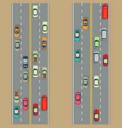 urban cars background traffic and roads vector image